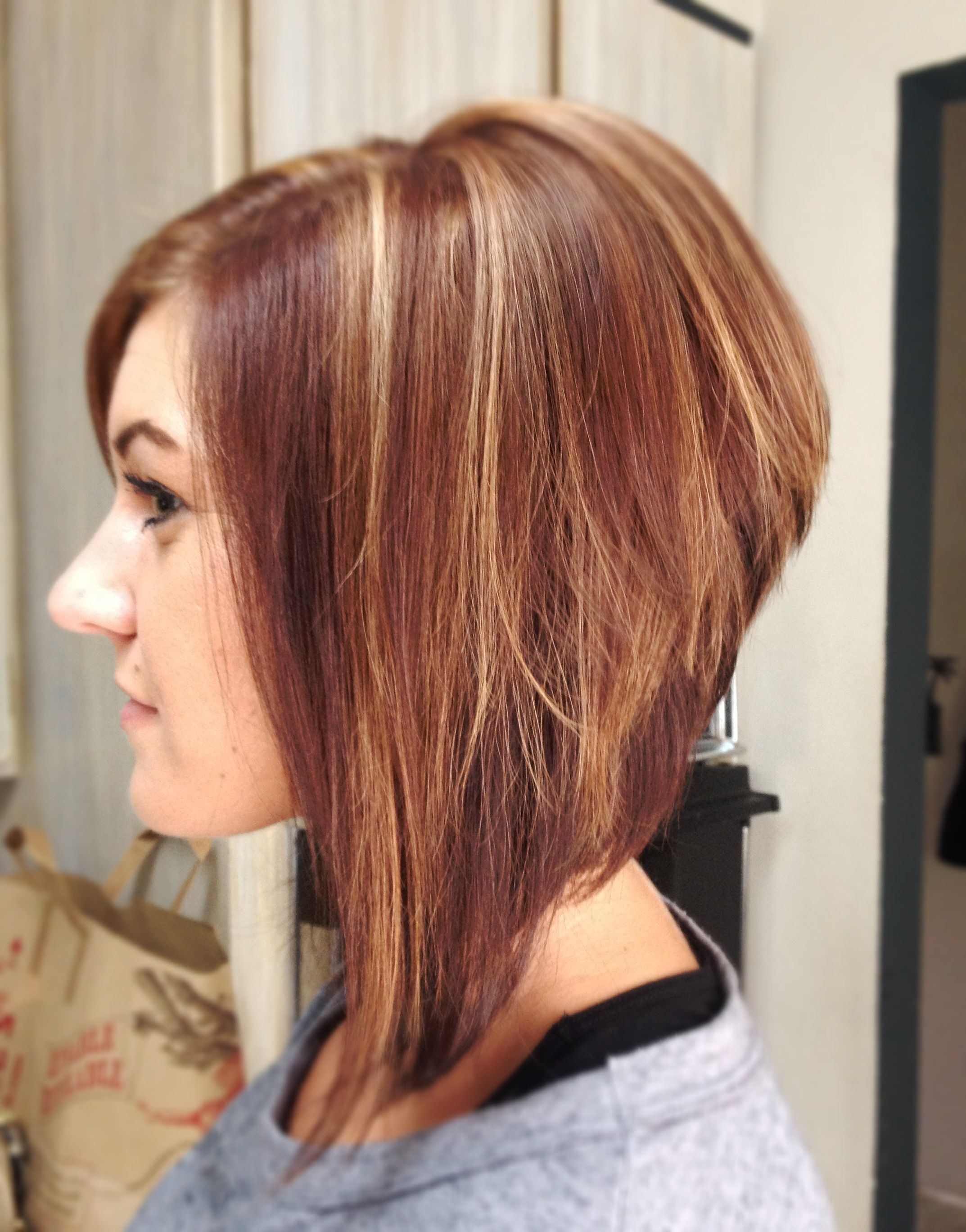Cut And Color By Haute Hair By Missy Stacked Dark Amber Romance
