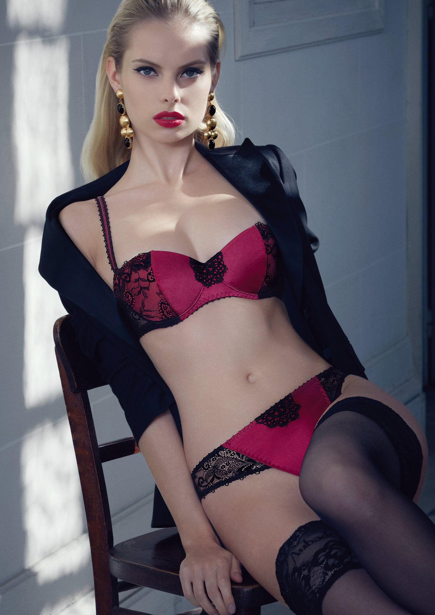 SALE Aubade ~ Dentelles Eternelles Balcony Bra in Deep Red and ...