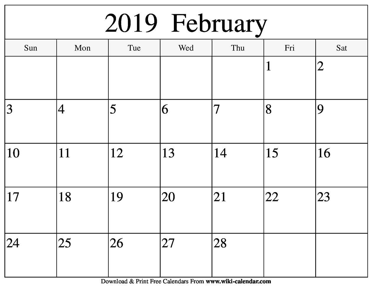 List Calendar For February 2019 February 2019 Blank February 2019 Calendar #February2019Calendar