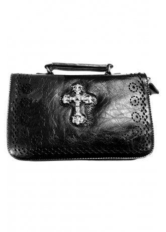 Banned Apparel Gothic Cross Handbag