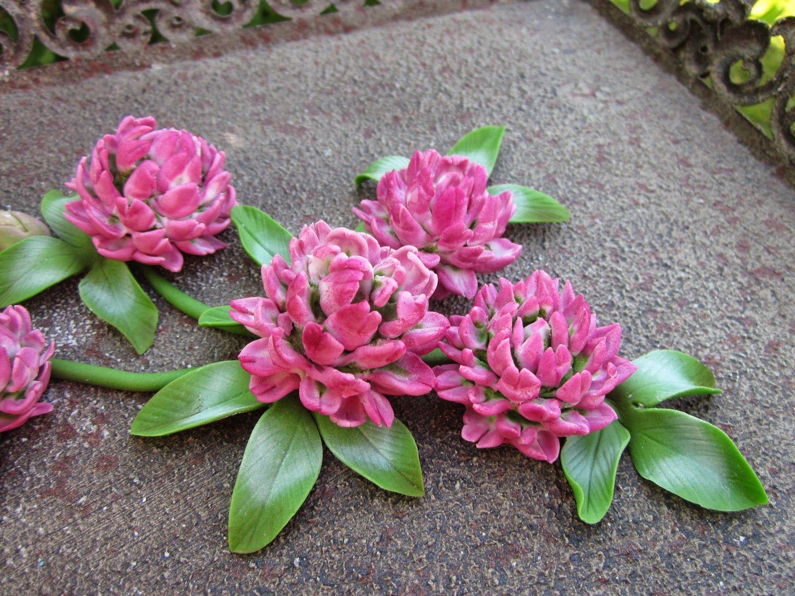 FREE TUTORIAL: polymer clay flowers. Mansikkamäki: Apilankukka