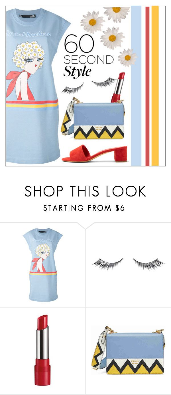 """""""Untitled #565"""" by sebi86 ❤ liked on Polyvore featuring Love Moschino, Urban Decay, Rimmel, Prada, Mansur Gavriel, tshirtdresses and 60secondstyle"""