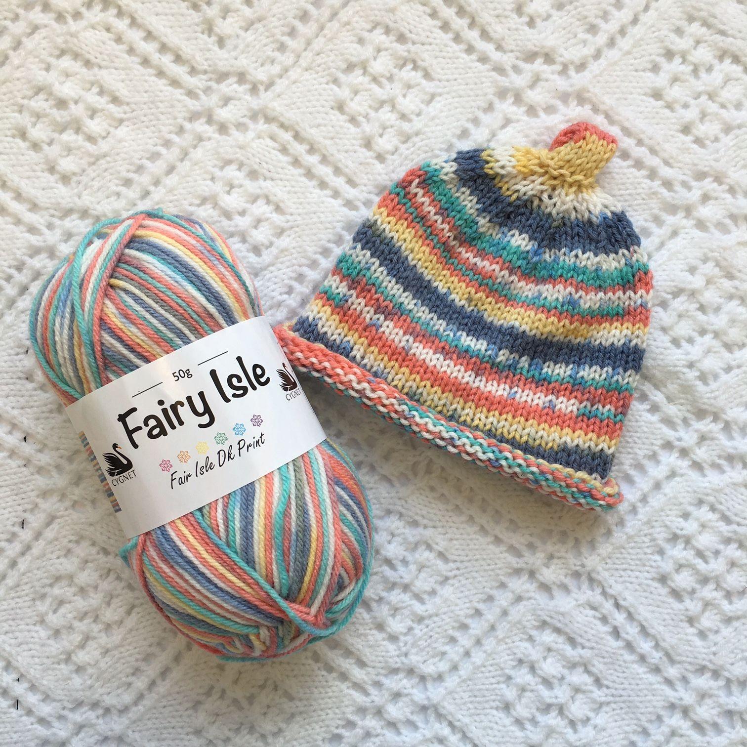 Cygnet DK Fairy Isle Nubin Hat Free baby knitting pattern ...