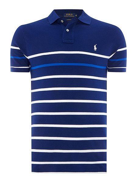 e9c0a99e Custom-Fit Striped Polo shirt | Shirts, t-shirts & polo men in 2019 ...