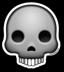 Skull Emojistickers Com Emoji Stickers Emoji Skull
