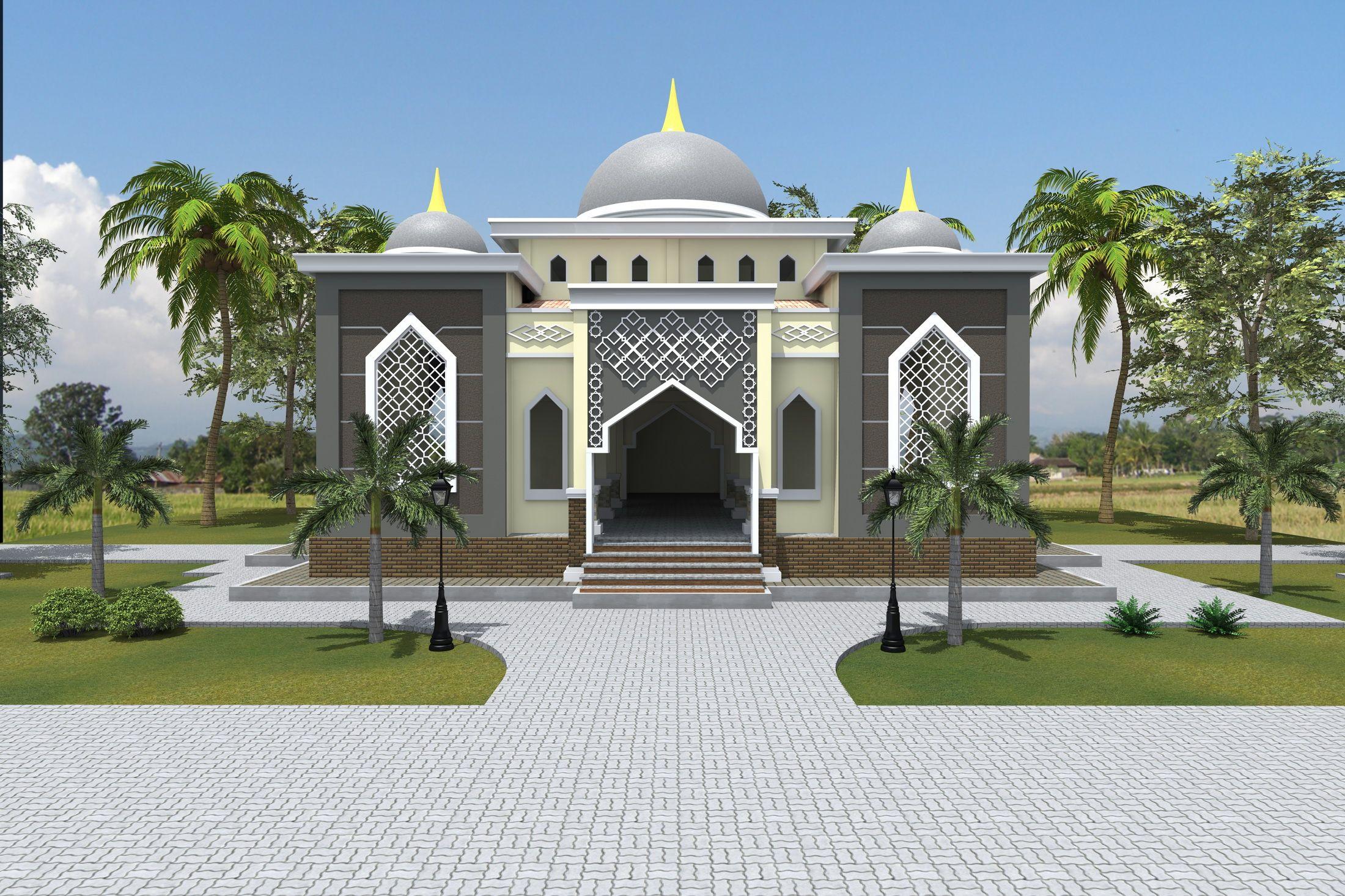 Hasil gambar untuk model masjid 2 lantai minimalis muara