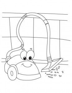 Robot Vacuum Cleaner Coloring Coloring Pages Free Kindergarten