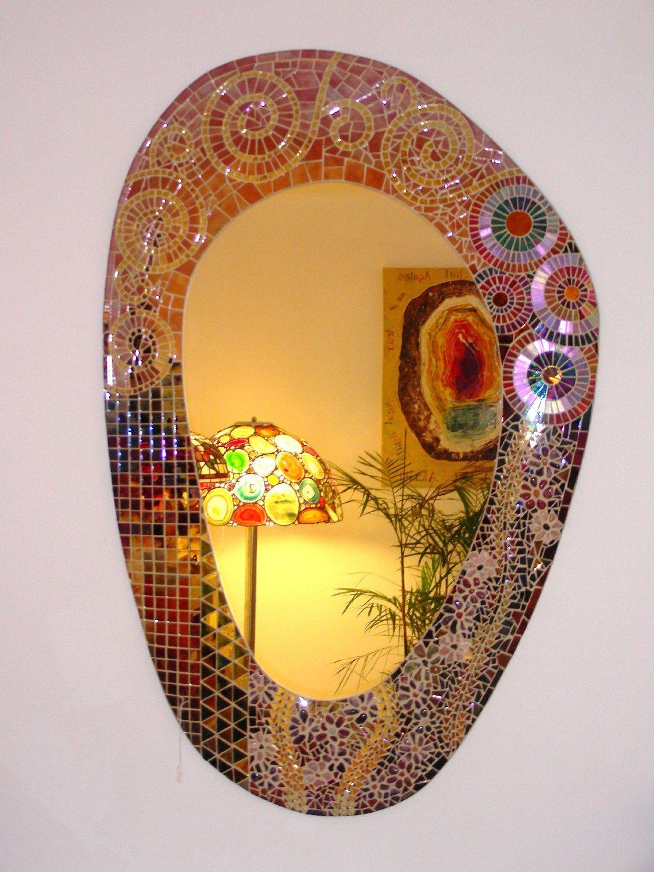 Jugendstil mirror amazoncouk kitchen home mirror