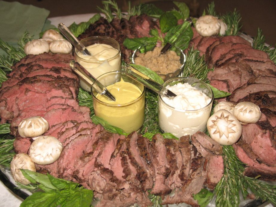 Tenderloin Platter Holidays Perfect Cocktail Party Food