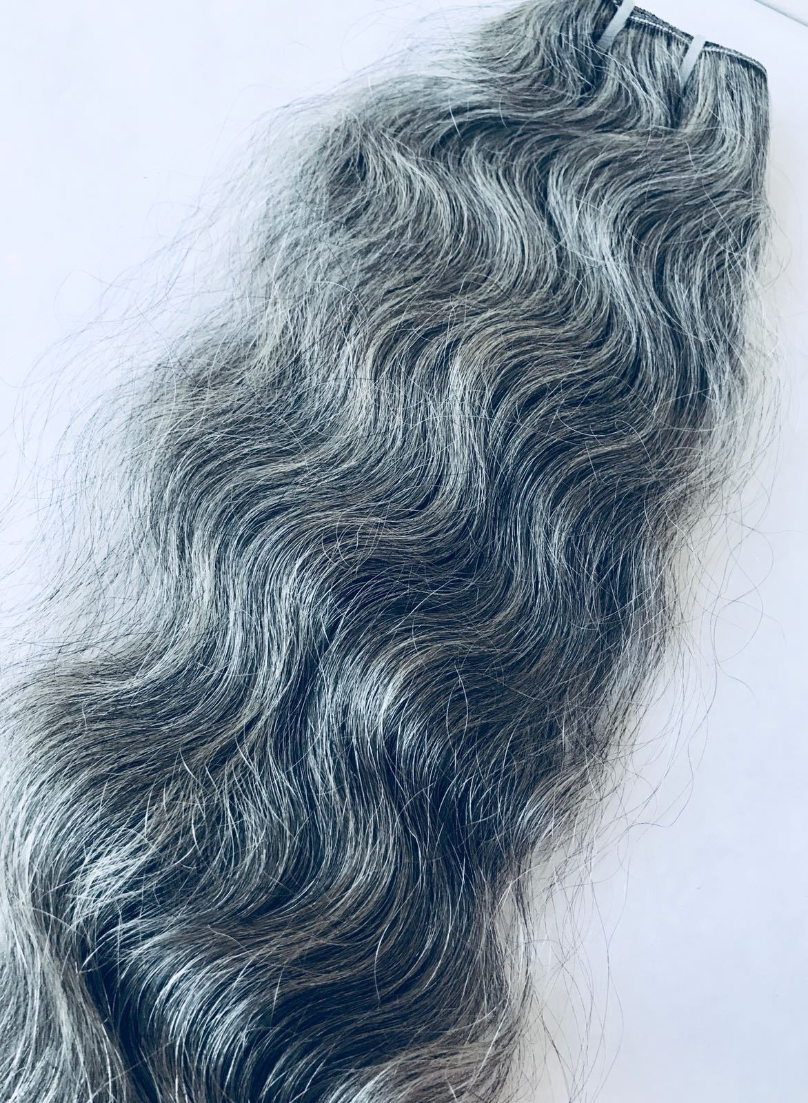 Grey (Salt and Pepper)Natural Indian Hair Extension