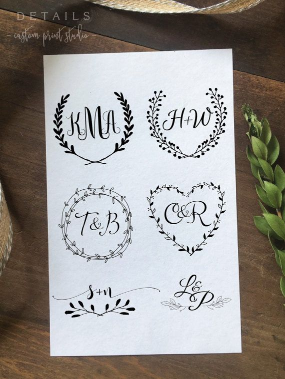 Custom Wedding Logo Design Create Your Own One Of A Kind Etsy Wedding Logos Wedding Logo Design Wedding Branding
