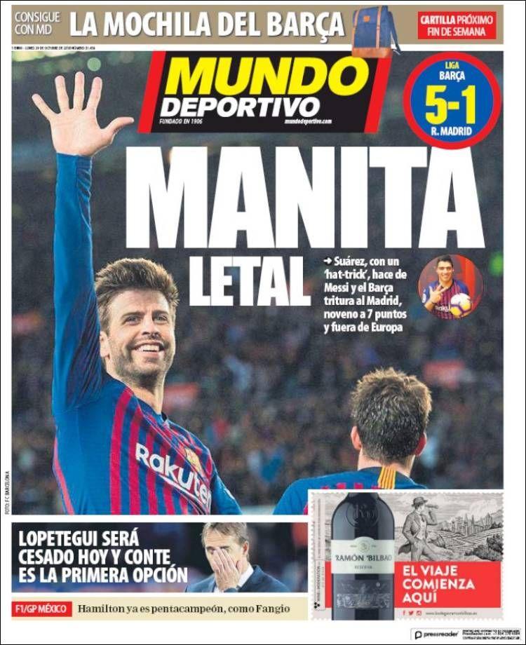 20181029 Portada de El Mundo Deportivo (España