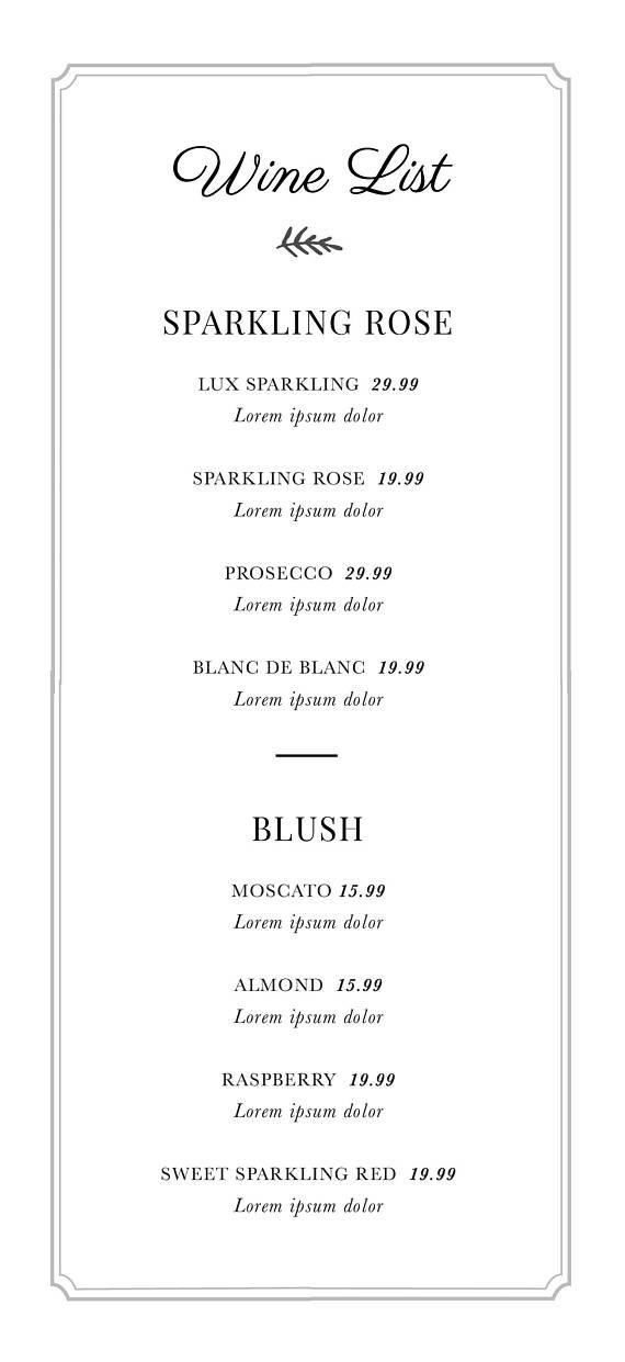 editable wedding menu templates drink menu psd design modern food