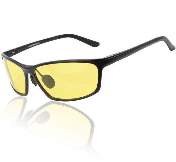 ce489971f Moderné pánske polarizované okuliare pre šoférov na nočnú jazdu v čiernej  farbe3