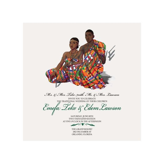** Je Parle Francais, Envoyez Moi un Nachricht **  ** DETAILS  Dieses Angebot ist für eine einzigartige und elegante inspiriert Afrikanische traditionelle Hochzeit. Es hat von mir angefertigt und gedruckt von Ihnen. Die hochauflösende Datei werden Ihnen nach Kauf und 3 Runden der proofing per