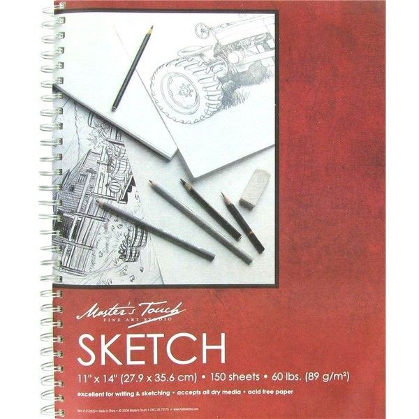 Master S Touch 11 X 14 Spiral Sketch Pad 11 Liked On