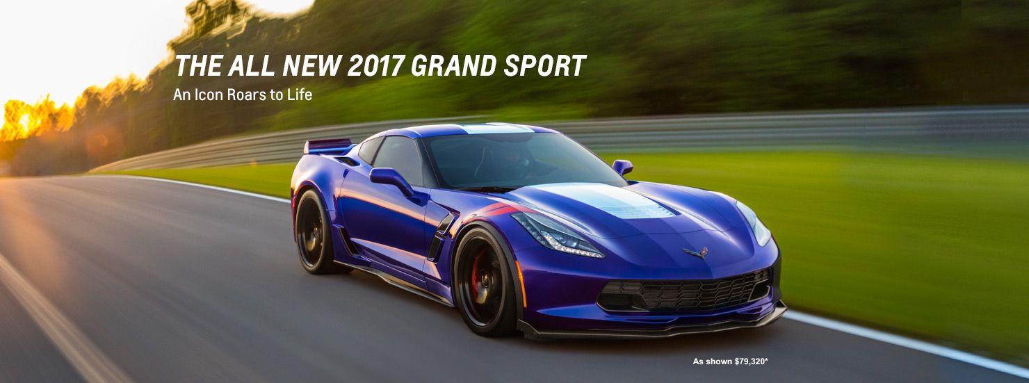 Two 2017 Corvette Grand Sport sports cars next to each other