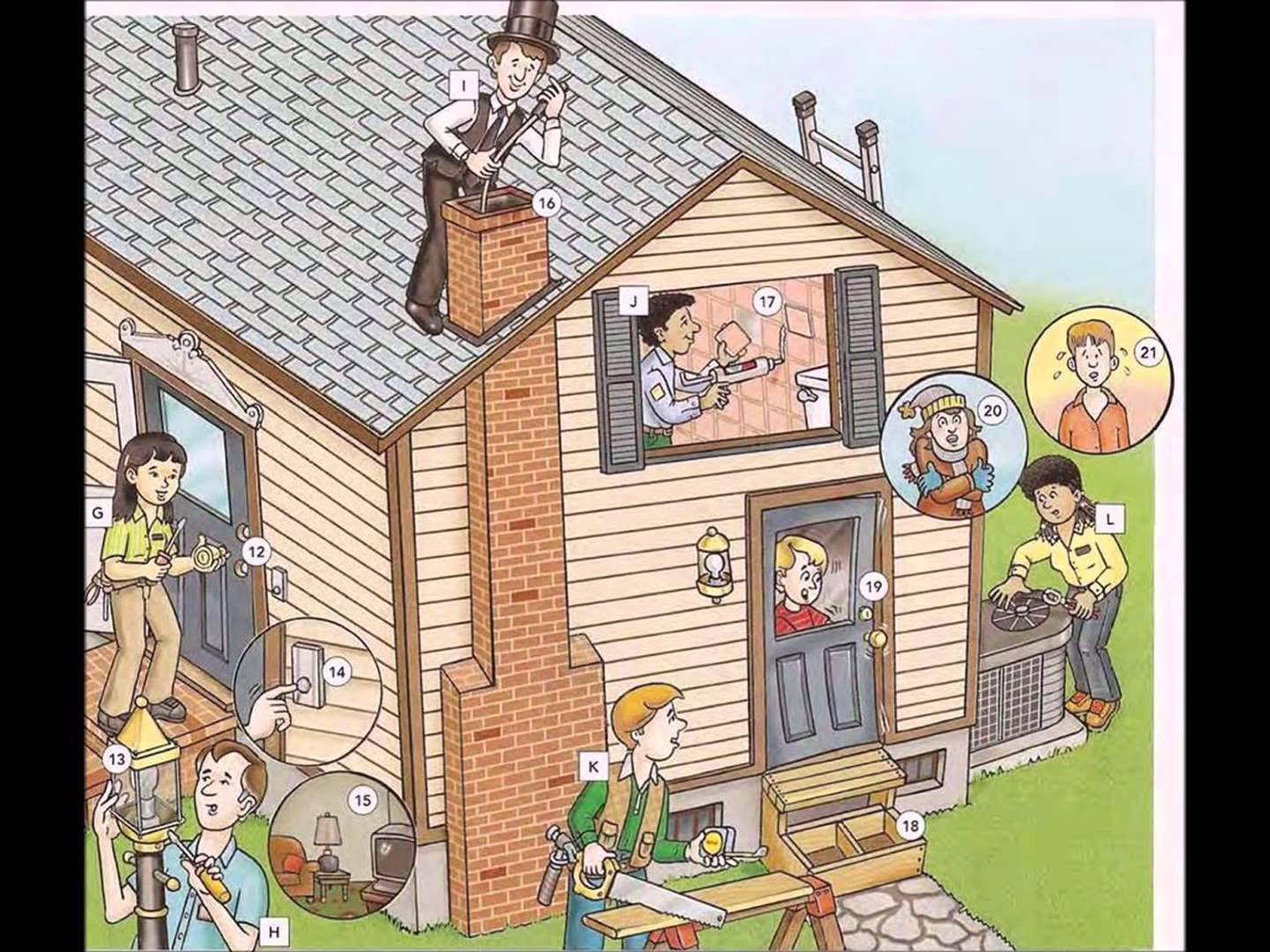 House Repairs And Problems Video English Lesson Part 1