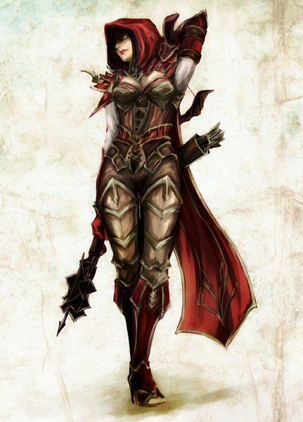anime picture 800x1112 with diablo game blizzard entertainment demon hunter le li666