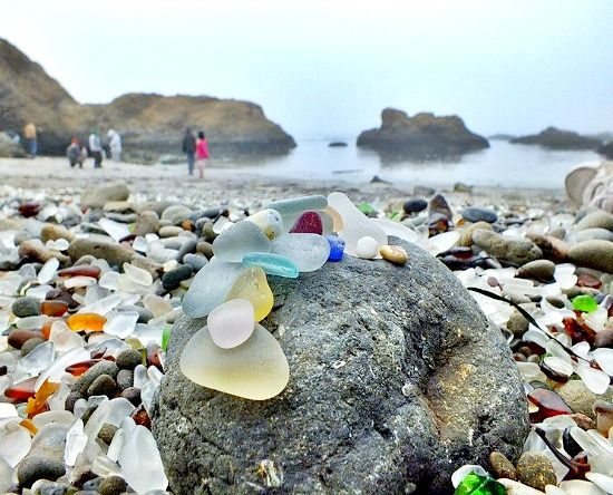 Image result for glass beach fort bragg