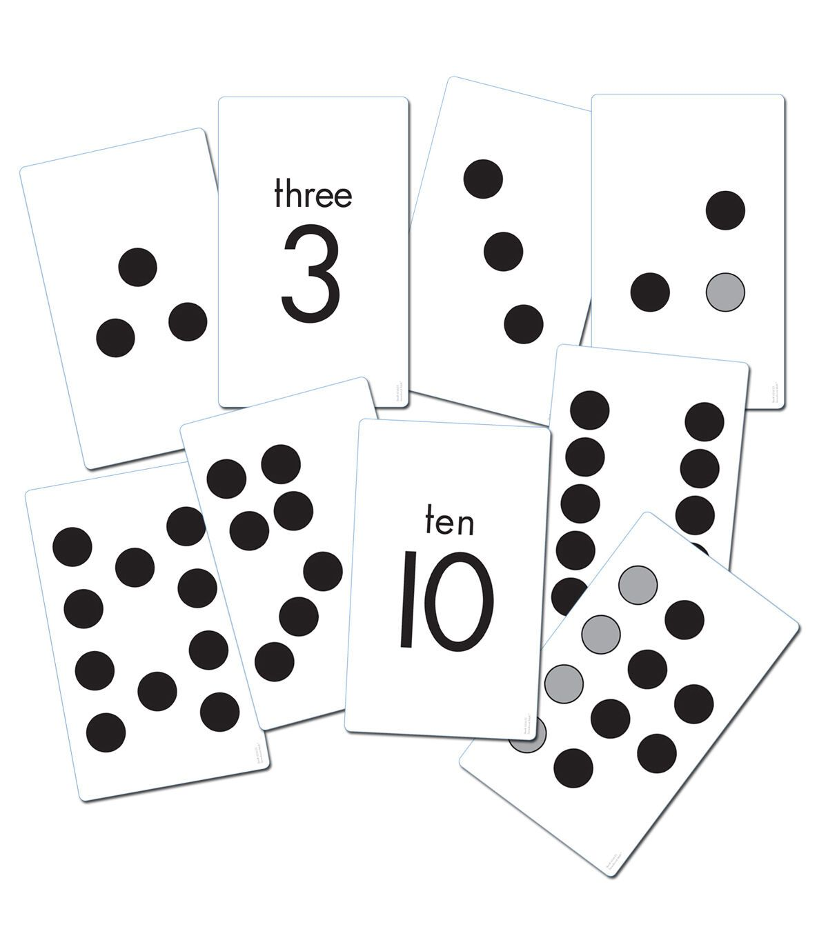 Essential Learning Products Subitizing Activity Cards in