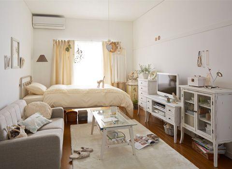 ワンルーム インテリア 6畳 Google 검색 Small Room Design Studio Apartment Design Studio Apartment Decorating