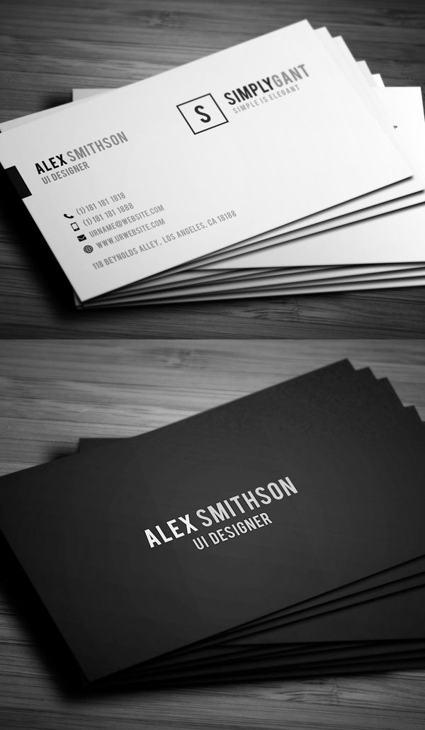 Sleek elegant business cards inspirational designs in 2018 sleek elegant business cards cheaphphosting Image collections