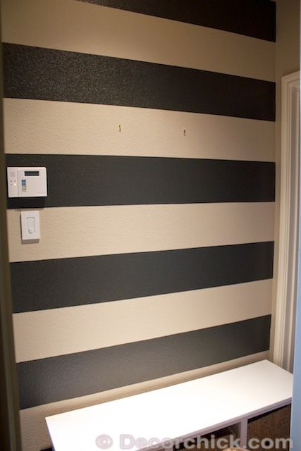 How To Paint Stripes on Textured Walls wwwdecorchickcom making