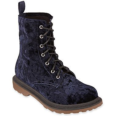 Arizona Dacey Crushed Velvet Combat Boots - jcpenney