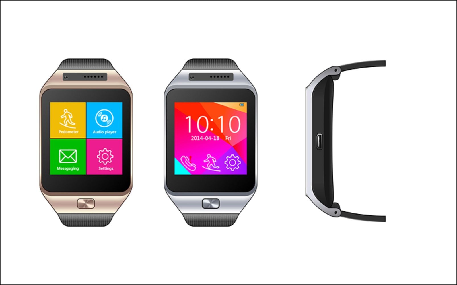 Remote control camera,take photos on the watch  Sync SMS,weather