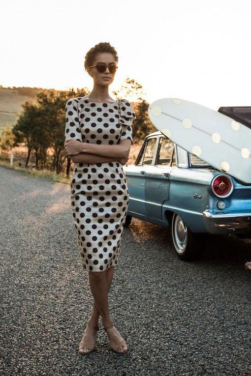 19183b4e7d36 30 Polka Dot Dresses – Cuteness Overload   Work Clothes   Fashion ...