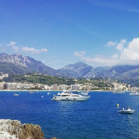 Alpes Maritime. From the Cap lookin at Carnoles and Menton Summer holiday with Lily Jason & Elliot August 2015