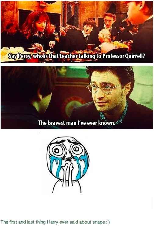 The First And Last Thing Harry Ever Said About Snape 29