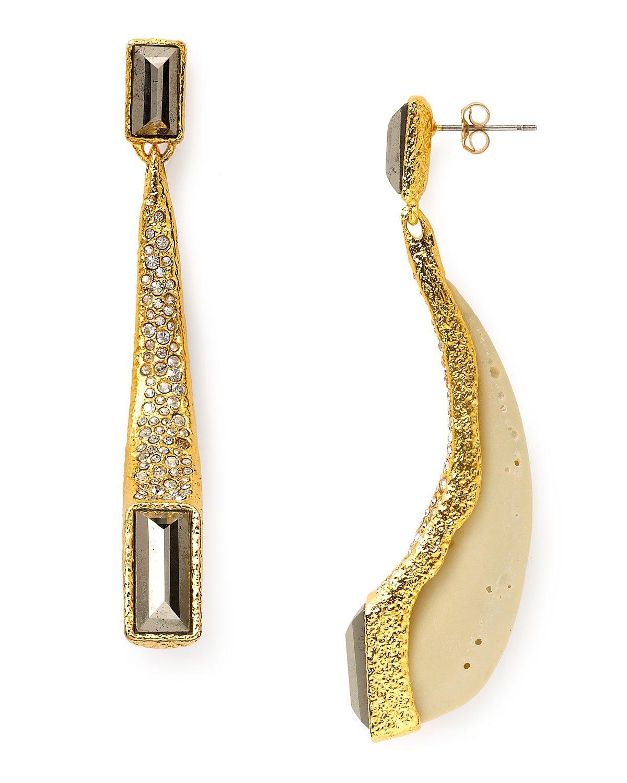 alexis bittar earrings | Alexis Bittar Gold Ivory Coal ...