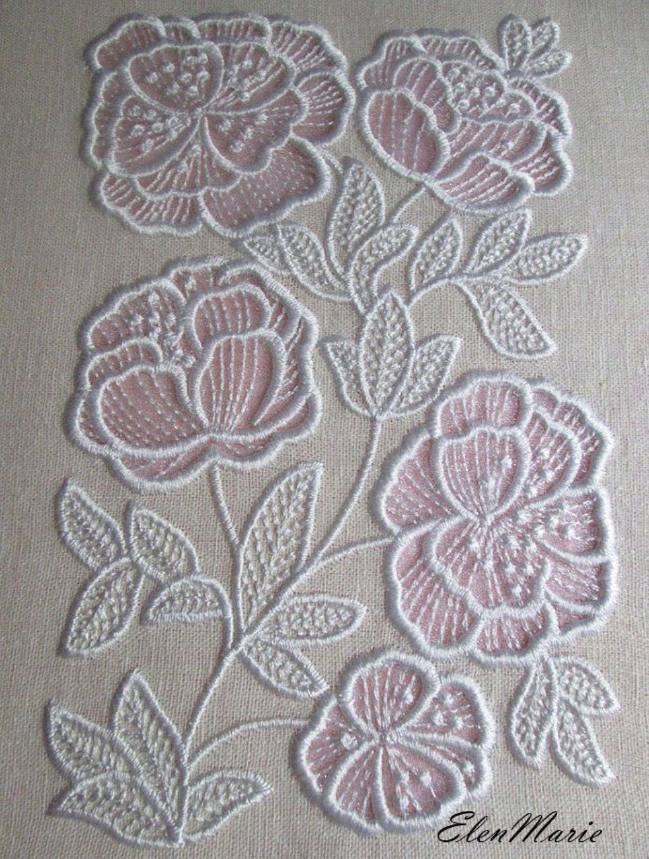 MACHINE EMBROIDERY DESIGN Flowers Applique Cutwork applique
