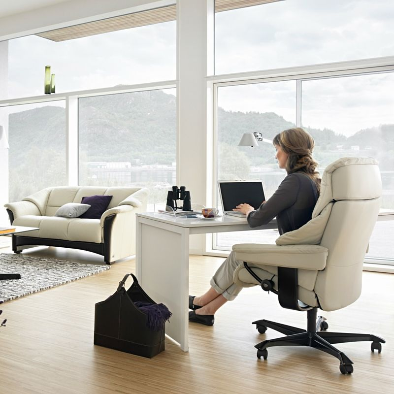 Combining Your Sofa Sitting Area With Your Home Office Is A Great