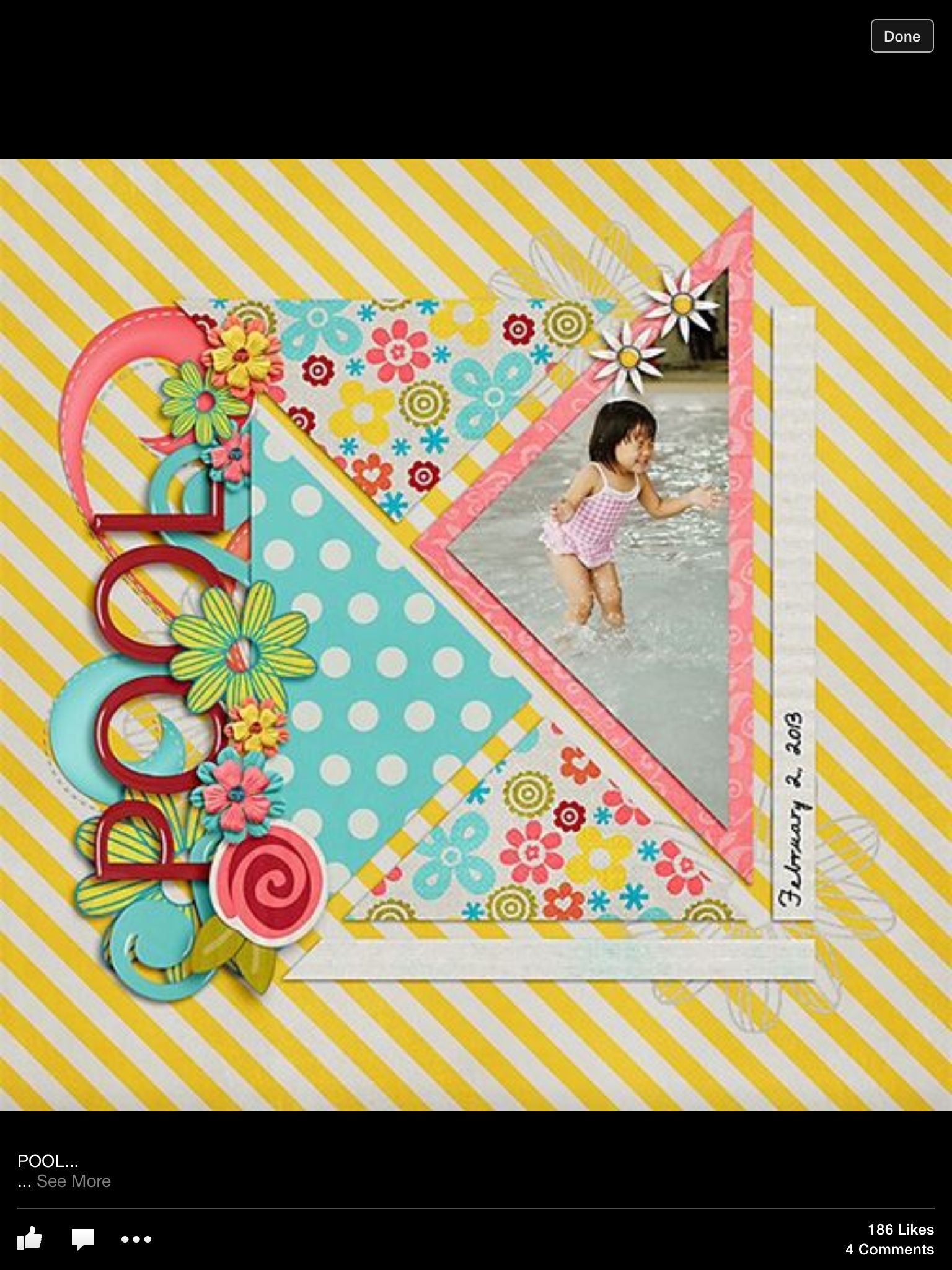 Pool layout Scrapbooking Pinterest