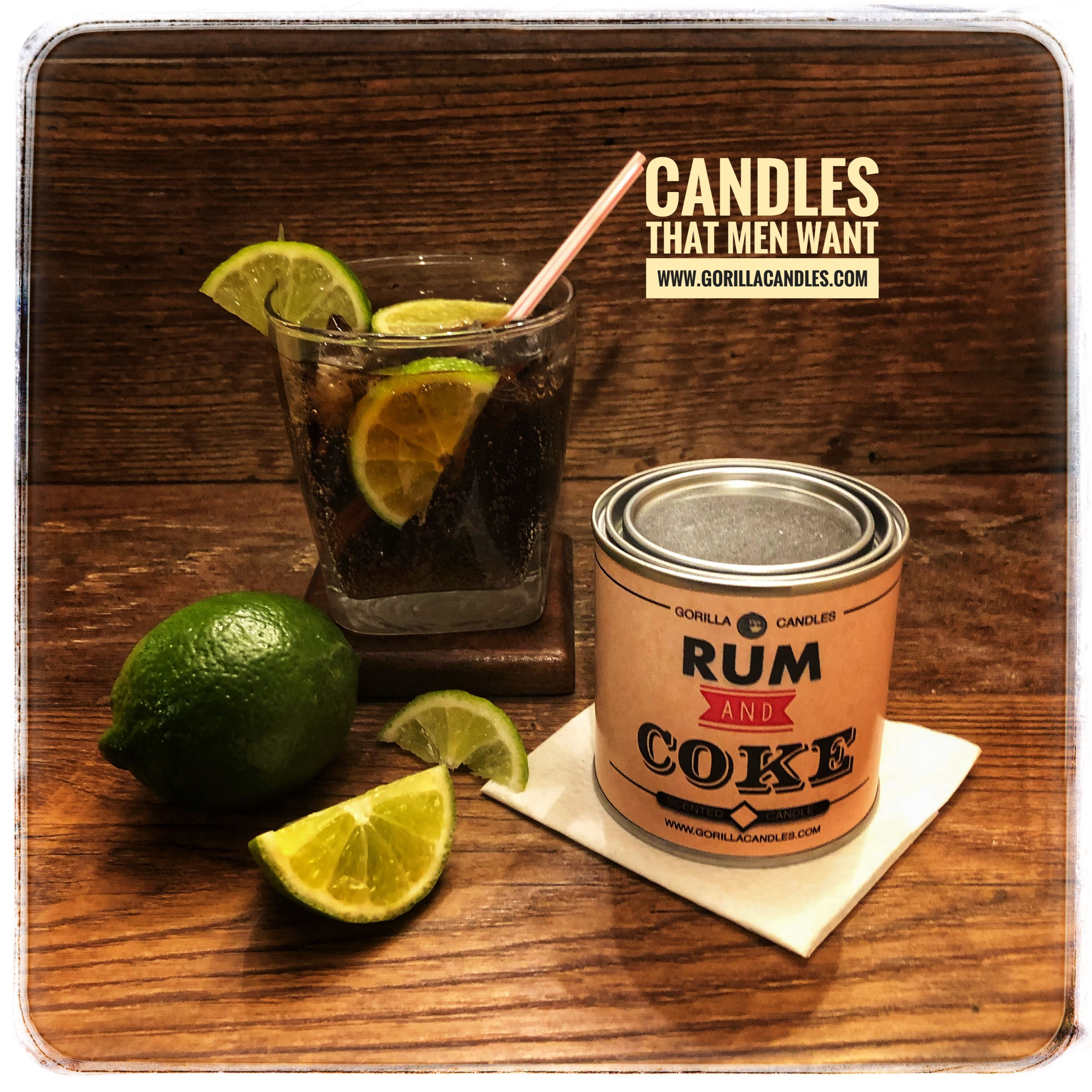 Rum and Coke Candle in 2020 | Rum, Man scented candles, Coke