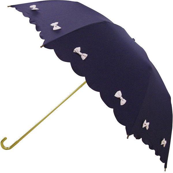 ピンクトリック[pink trick] 折傘カラフルリボン ($22) ❤ liked on Polyvore featuring accessories, umbrella, 'accessory, blue, filler and other