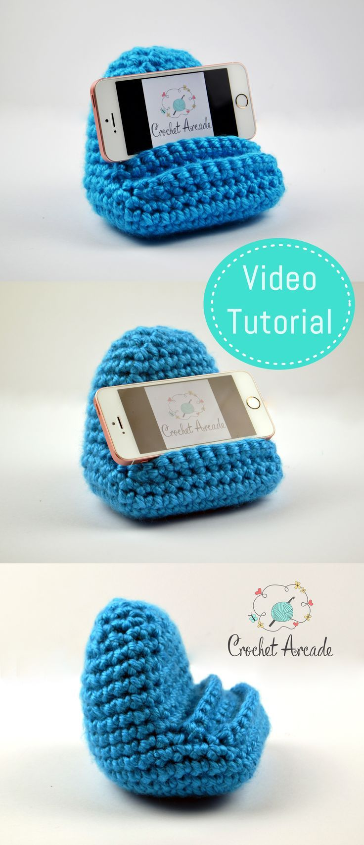 Crochet Mobile Phone Holder Video Pattern Especially Designed To