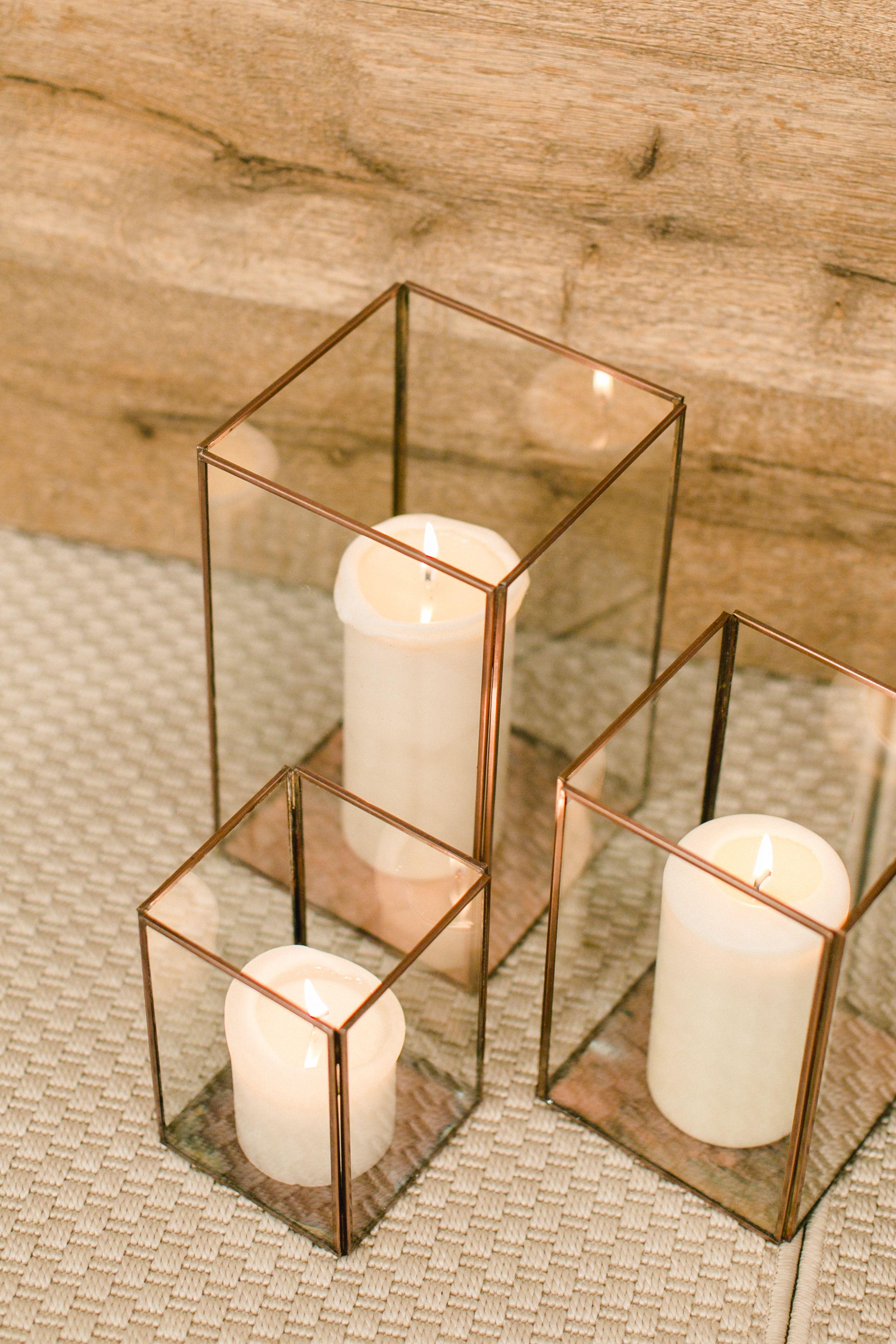 Messestand Kerzen Laterne Glas rustikal