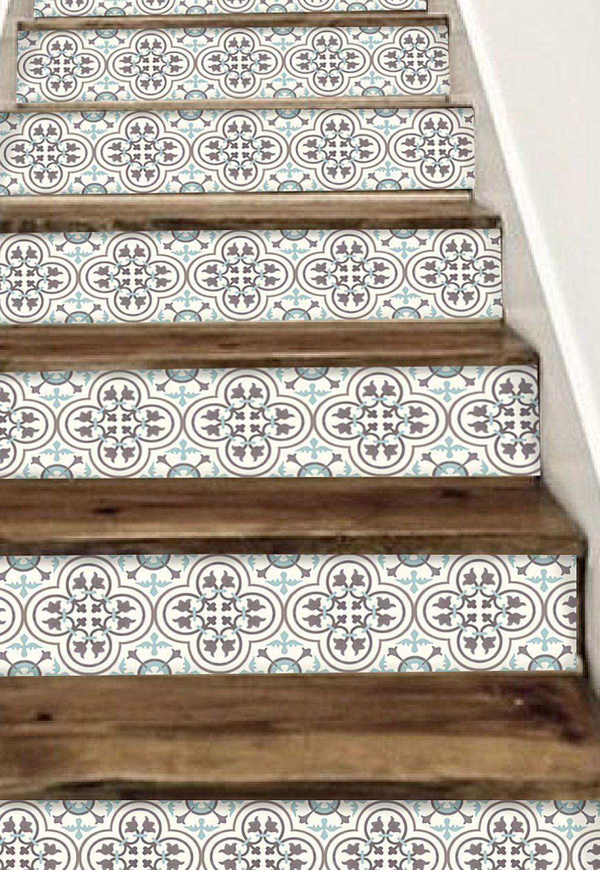 Stair Riser Vinyl Strips 15 Steps Removable Sticker L Etsy