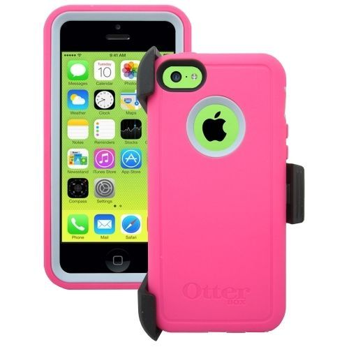 Authentic Otterbox Defender Case Belt Clip Le Iphone 5c Pink Grey 77 33394