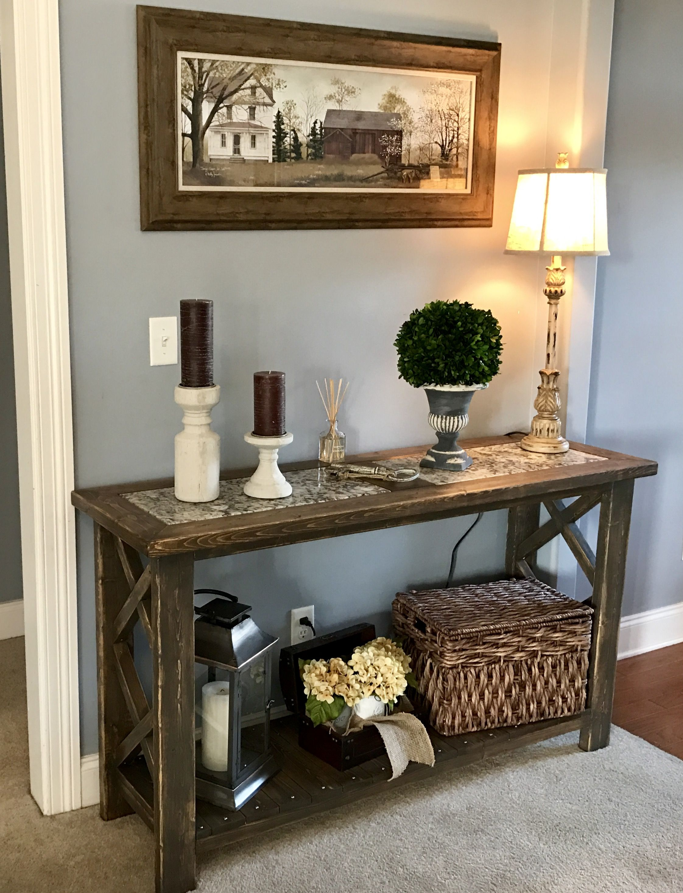 Sofa Table Console Table Farmstyle Diy Diy Console Table Console Table Decorating Console Table Living Room