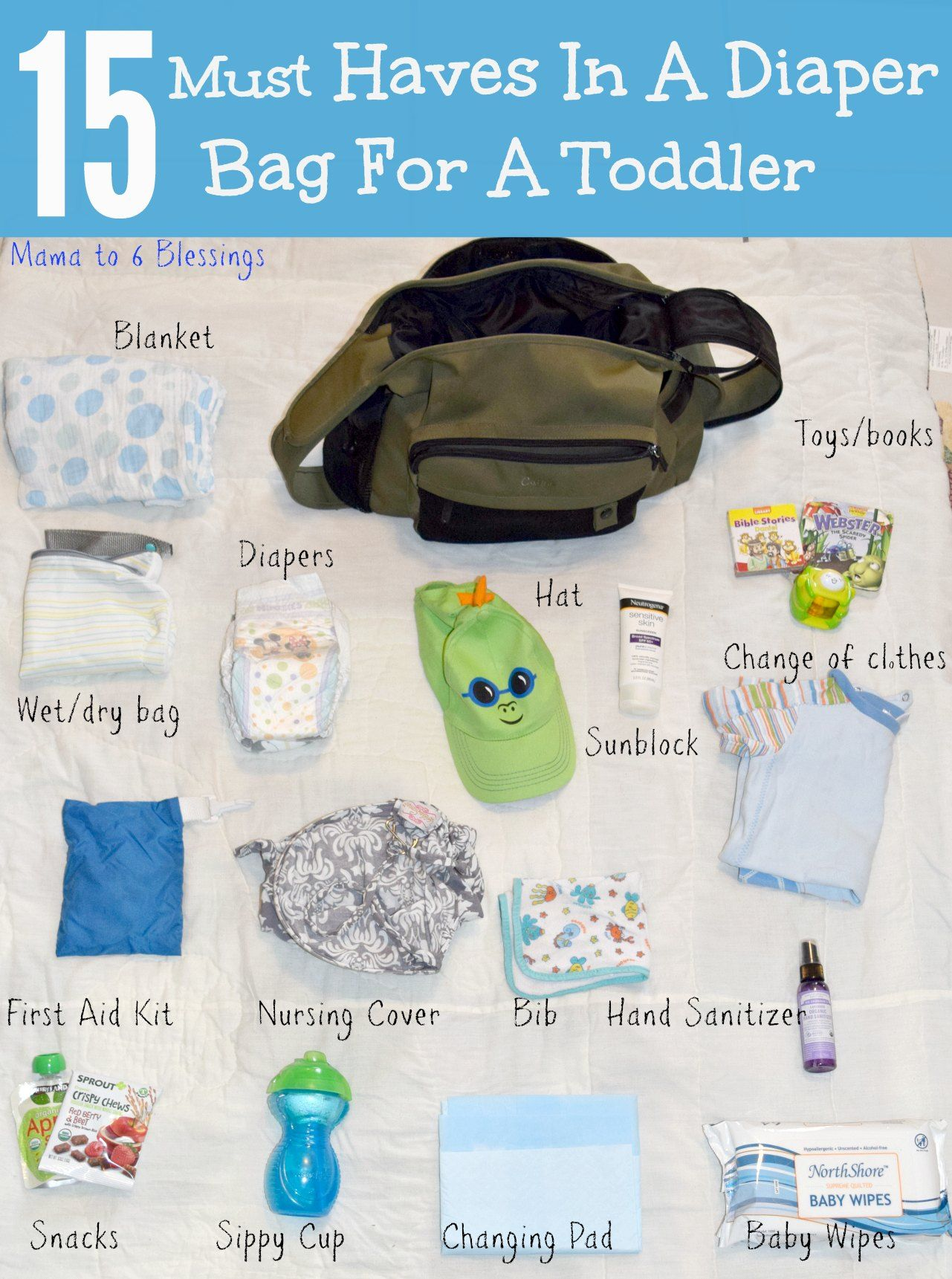 15 Must Haves In A Diaper Bag For A Toddler Toddler Diaper Bag