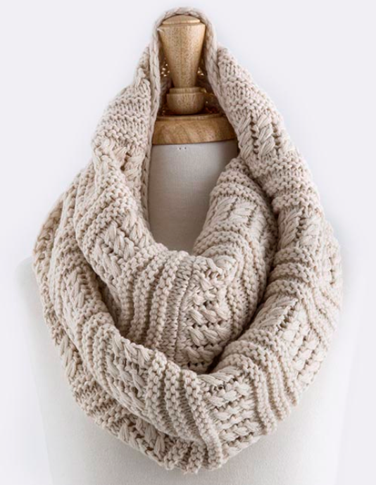 Cozy knit infinity scarf - more colors   Infinity, Scarves and Oatmeal 80dcc32b705
