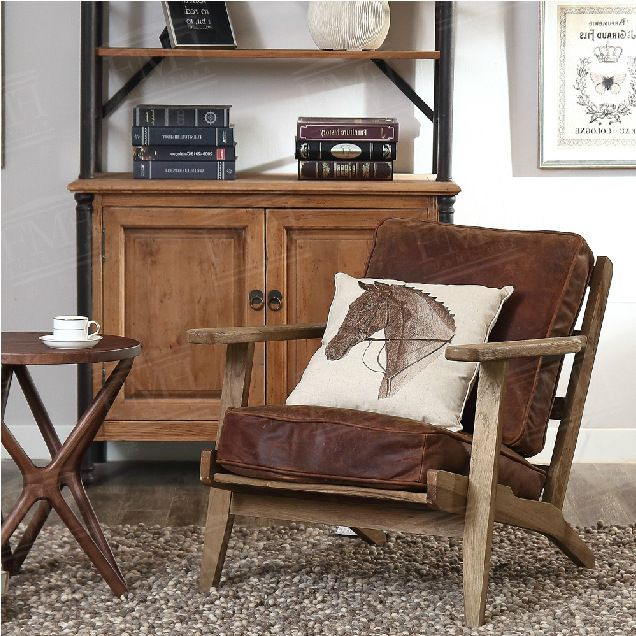 High quality American French country furniture superior cowhide