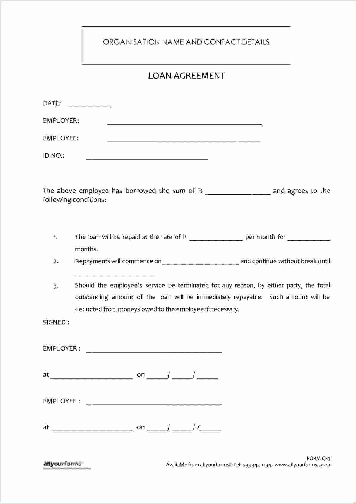 Lending Money Contract Template Free In 2020 Personal Loans Loan