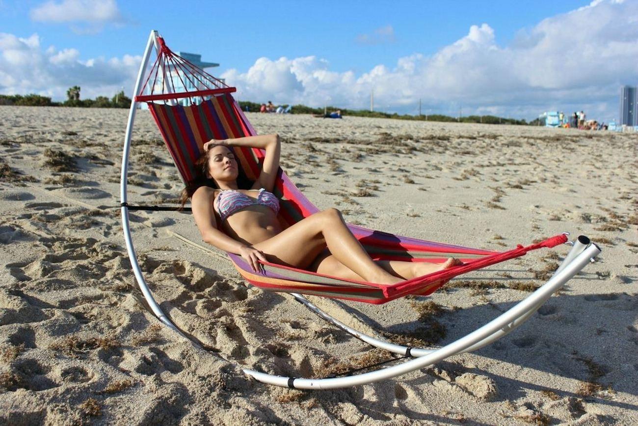 Folding Beach Hammock Stand N 225 Pady