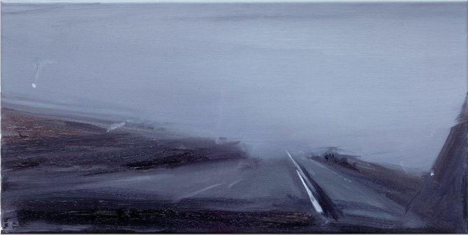 "vjeranski: ""CARLA KLEIN UNTITLED, 2008 oil on canvas 30 x 60 cm """